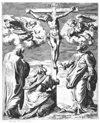 die kreuzigung christi by orazio (aquilano) de santis
