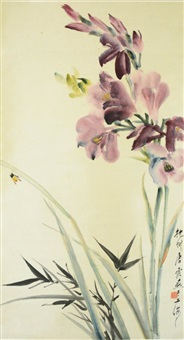 bees and orchid by tang yun