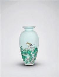 "粉彩""靓鸟迎春""瓶 by dai yumei"