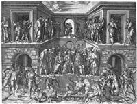 das martyrium des heiligen laurentius (after baccio bandinelli and marcantonio raimondi)) by giulio sanuto
