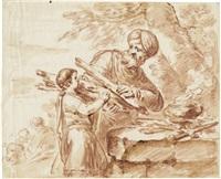 abraham und isaak by bernhard (christian bernhard) rode