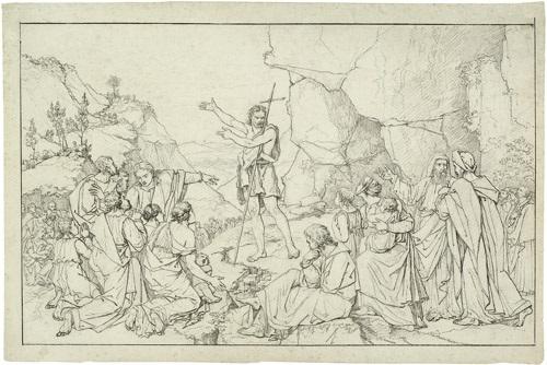 die predigt johannes d täufers by peter von cornelius