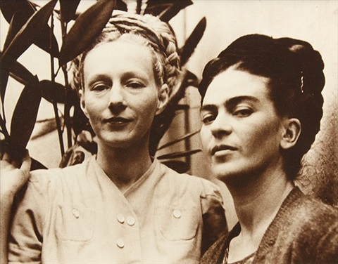 emmy lou packard and frida kahlo at coyoacan house by diego rivera