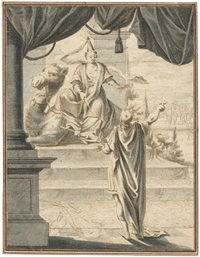 allegorie des erdteils asien by johann esaias nilson