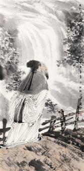陶潜诗意 镜心 设色纸本 by ren huizhong