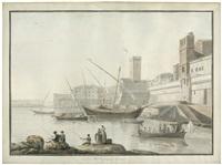 vuë du port de civita vecchia by abraham ducros & giovanni volpato