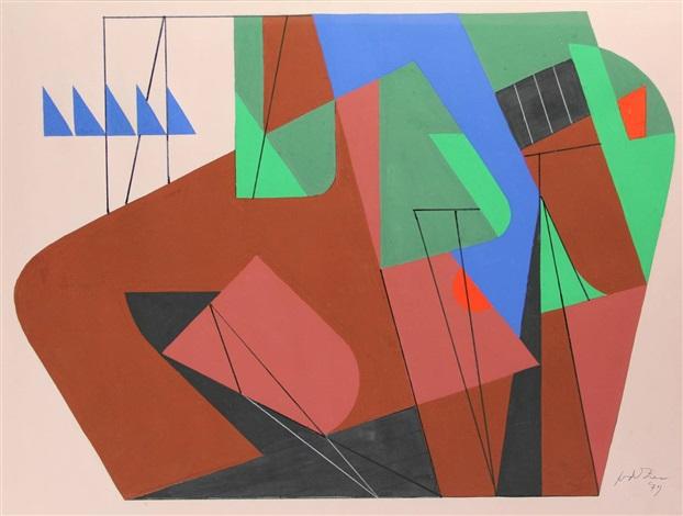 geometrical composition by jan van der zee