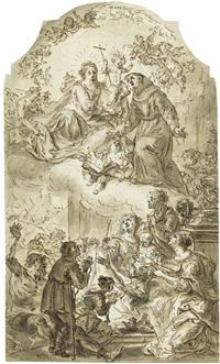 der hl. antonius als fürbitter für die kranken und armen by johann baptist enderle
