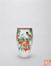 """古彩""""长寿""""瓶 by dai ronghua"""