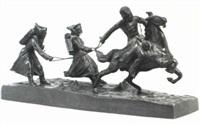 horsemen pulling two skiers by typagsne