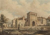 italienische stadt mit renaissancetor by edward freyer