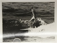 surfing - 26th street, santa monica pier (california) (24 works) by leroy grannis