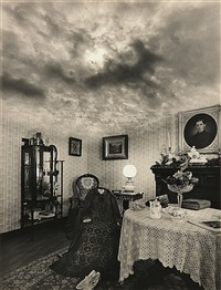 untitled (victorian room with sky ceiling) by jerry uelsmann