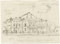 theatergebäude im klassizistischen stil by johann philipp eduard gaertner
