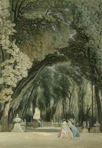 promenade in den tuilerien by pierre eugene grandsire
