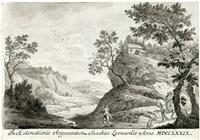 gebirgslandschaft mit wanderern by jacopo leonardis