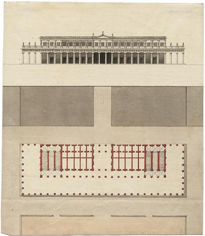fassade und grundriss eines italienischen palazzo architectural design by giacomo quarenghi