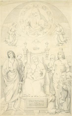 sacra conversazione (pala buffi) (after giovanni santi) by august wilhelm julius ahlborn