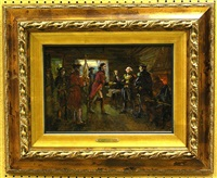 emissaries of lord cornwallis at washington's headquaters (study) by anatollo sokolov