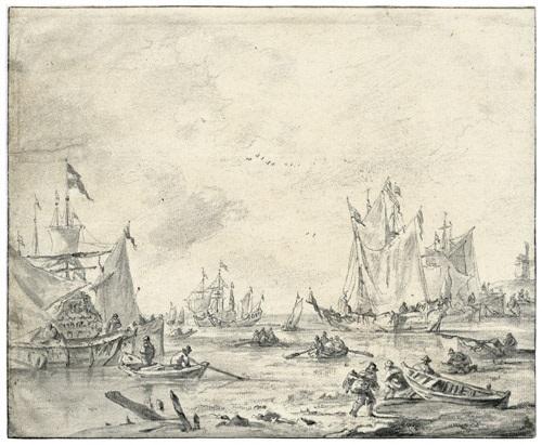 segelschiffe und ruderboote im hafen by zeeman