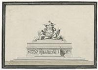 entwurf zu einer altarmensa mit gottvater und der heilig-geist-taube by giuseppe valadier
