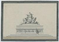 gottvater und die heilig-geist-taube (design for an altar piece) by giuseppe valadier