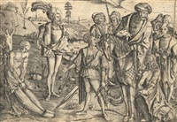 das schießen auf den toten vater (martyrium des heiligen sebastian) by matthaus zasinger