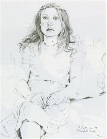 portrait of meredith brody by don bachardy