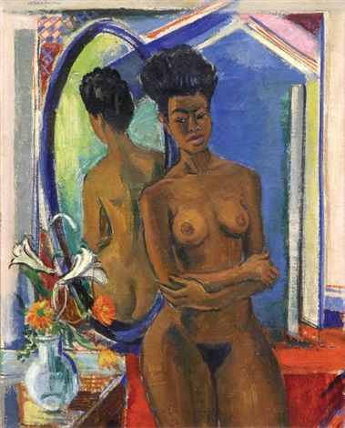 nude before a mirror by arthur kaufmann