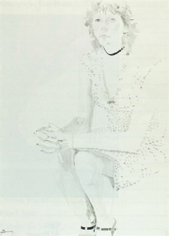 seated woman by don bachardy