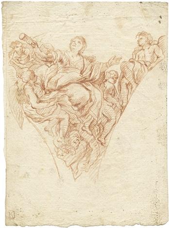 die heilige juliana madonna mit kind verso by johann kasper sing