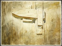 wooden doorlatch by larry webster