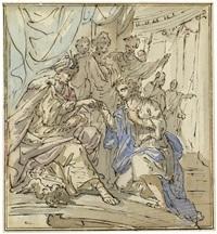 könig salomon und die königin von saba by elias van nymegen