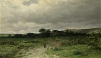 holländische landschaft mit schafherde by willem vester