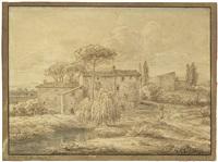 ansicht einer kleinen hofanlage in italien by johann christian reinhart