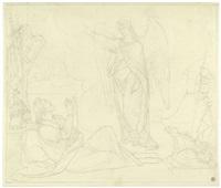 der engel gabriel erscheint dem herzog gottfried von bouillon by peter von cornelius