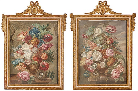 blomsterstilleben another pair by jan frans van dael