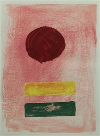 untitled (pink ground) by adolph gottlieb