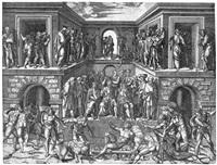 das martyrium des hl. laurentius (after baccio bandinelli) by giulio sanuto