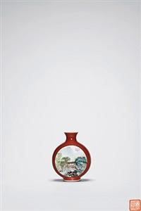 珊瑚釉开光 by xu huanwen