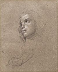 zwei studienblätter mit frauenbildnissen (2 works) by eduard daege