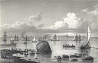 schiffe an der küste von snekkersten by carl emil baagöe