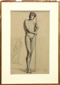 standing male nude by louis appian