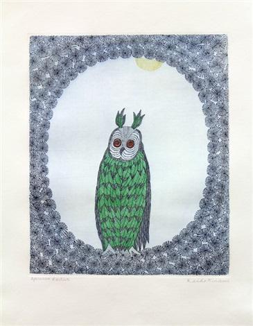 owl under the moon by keiko minami