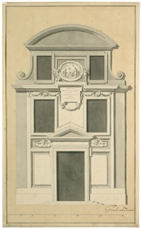 klassizistischer wandentwurf für den innenraum einer kirche (2 alternative designs for interior of a church) by girolamo toma
