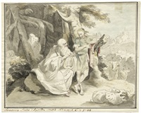 telemach und termosiris by johann heinrich tischbein the elder