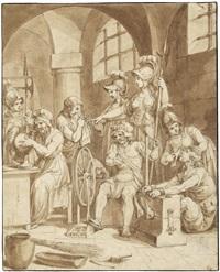 athena und ihre gefährtinnen zu gast in einem kerker by franz nadorp