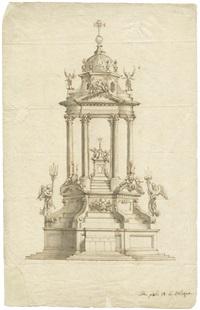 hochaltar mit aufwendig gestaltetem ziborium (design) by mauro antonio (maurino) tesi