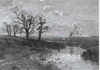 moorlandschaft by louis (jakob ludwig w.) boller