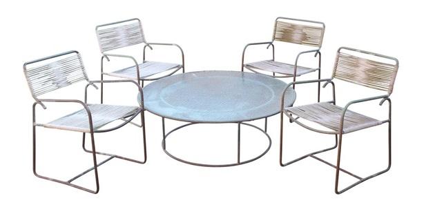 Lot Of 5 Walter Lamb For Brown Jordan Patio Furniture Suite By